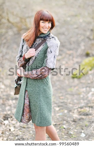 Pretty woman smiling and engaging - stock photo
