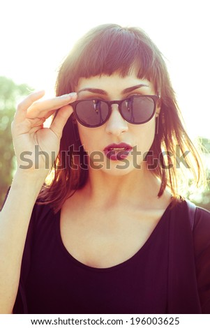 Pretty woman with sunglasses