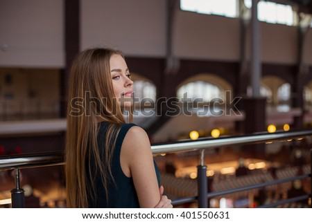 Pretty young blond woman  - stock photo