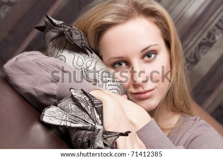 Pretty young girl - stock photo