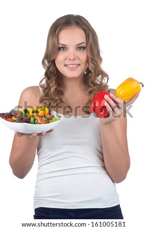 Pretty young girl likes healthy lifestyle