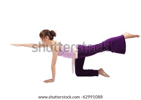 pretty young girl Practice yoga