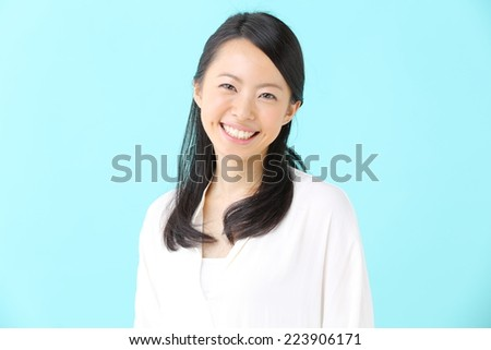 pretty young girl smiling