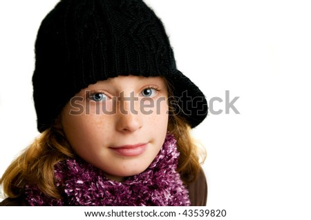 pretty young girl wearing a hat