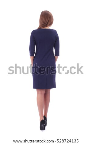 pretty young girl wearing office dress