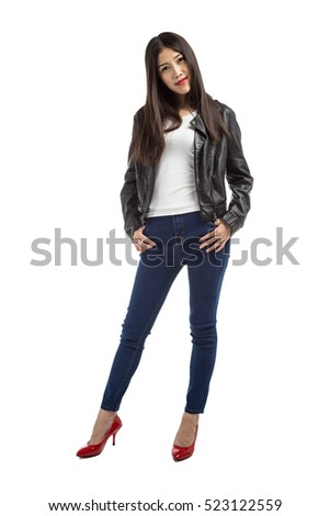Pretty young sexy fashion sensual woman isolated