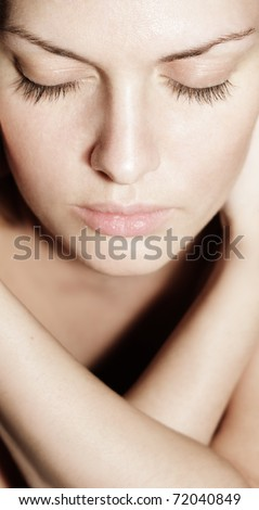 Pretty young woman portrait - stock photo
