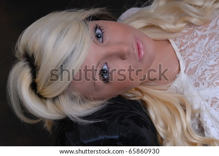 Pretty young woman posing and relaxing