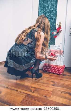 Pretty young woman with many gifts