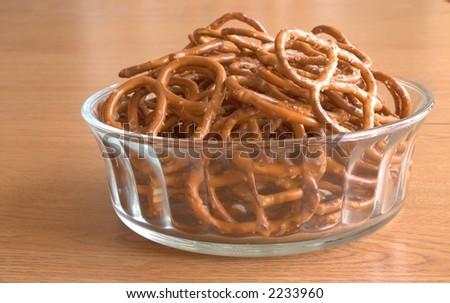 Pretzels in a Bowl - stock photo