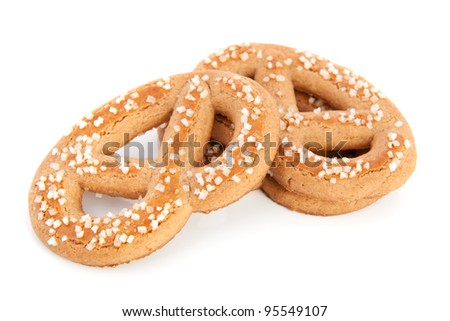 Pretzels isolated over white background