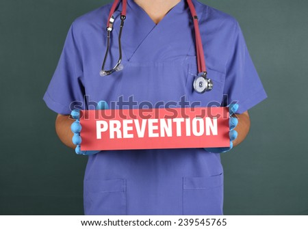 Prevention - stock photo