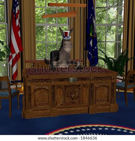 Previous Democrat Administrations Political Humor. - stock photo