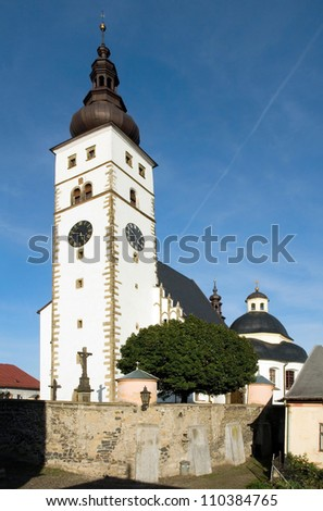 Pribor, Czech Republic, the medieval church of the Virgin Mary in the native town of Sigmund Freud