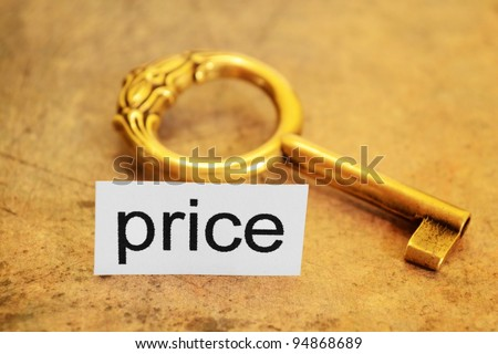 Price and golden key