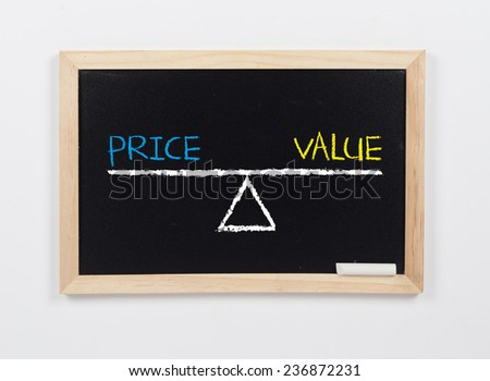Price and Value - stock photo
