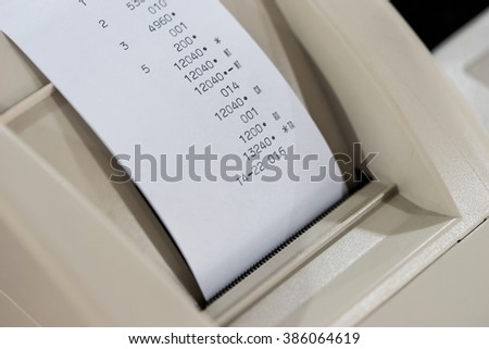 Price label from Cash register - stock photo