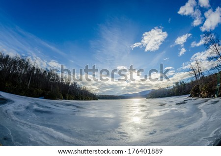 price lake frozen over during winter months in north carolina