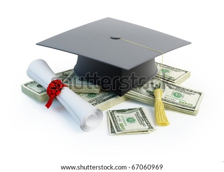 Price Leaving Certificate or training - stock photo