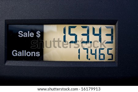 Price of gas keeps soaring out of control! - stock photo