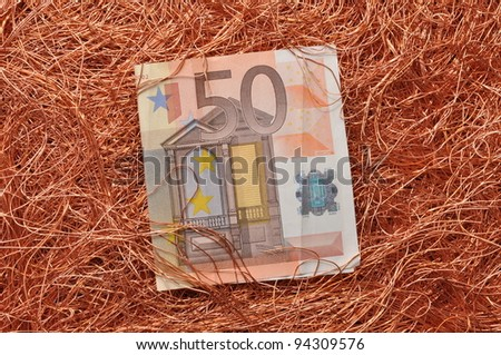 Price of raw materials for industry,  non-ferrous metals - stock photo