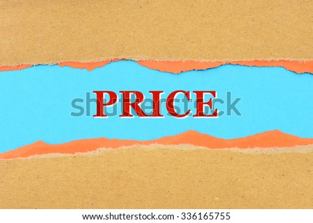 PRICE on a torn paper - stock photo