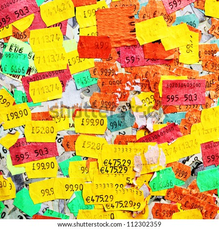 Price stickers - stock photo