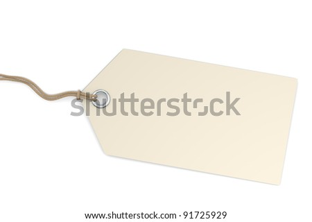 Price Tag. Blank price tag for Copy Space - stock photo