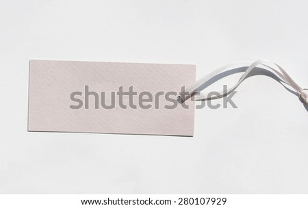 Price tag from recycled paper - stock photo
