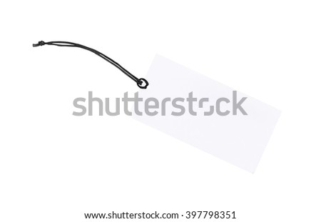 Price tag isolate on white background, Clipping path.