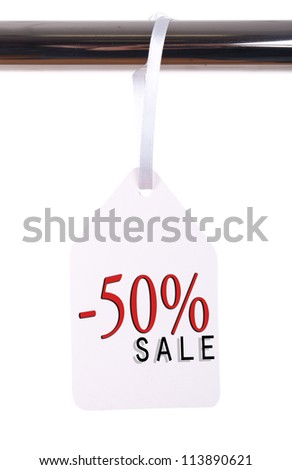 price tag isolated on white