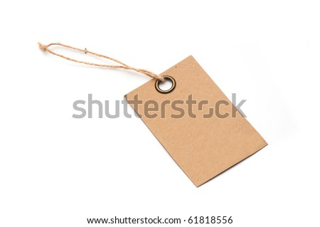 Price tag on white background
