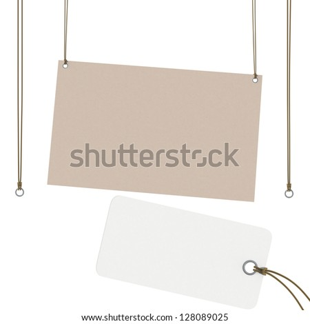Price Tag / tags / plate / label / suspended / hanging - stock photo
