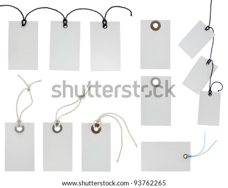 Price tags collection isolated on white background