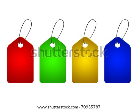 price tags set - stock photo