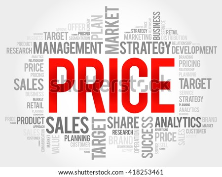 PRICE word cloud, business concept - stock photo