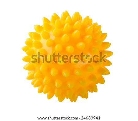Prickly massage ball isolated on white