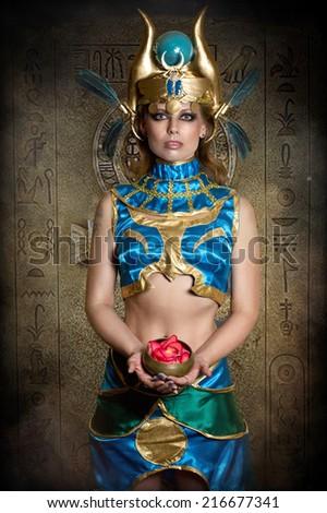 priestess - stock photo