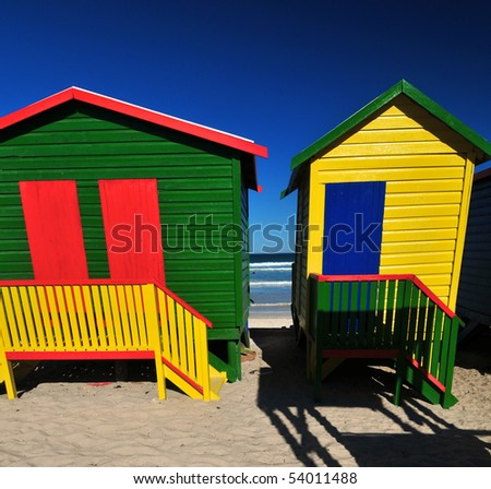 Primary painted colors at the beach