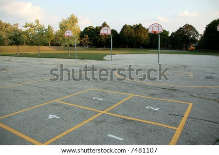 Primary school playground.  Canada. - stock photo
