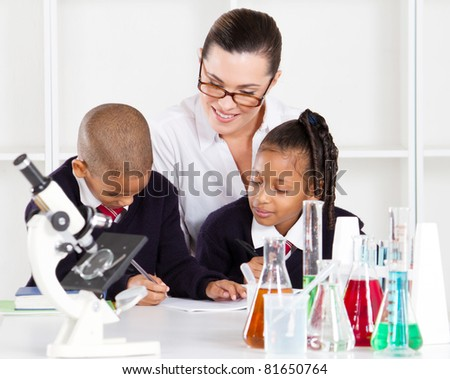 primary science class - stock photo