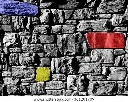 Primary Wall - Background Suitable for Custom Content - stock photo