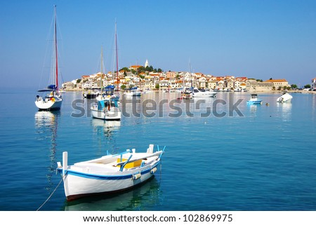Primosten old city, Croatia - stock photo
