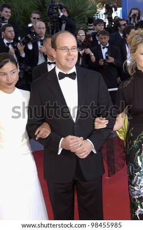 PRINCE ALBERT of MONACO & dates at the opening gala ceremony of the 56th Annual Cannes Film Festival. The opening movie was Fanfan la Tulipe. 14MAY2003.   Paul Smith / Featureflash