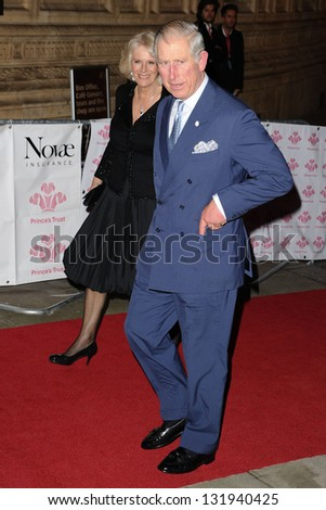 Prince Charles and Camilla, Duchess of Cornwall arriving for the Prince's Trust Comedy Gala at the Royal Albert Hall, London. 28/11/2012 Picture by: Steve Vas - stock photo