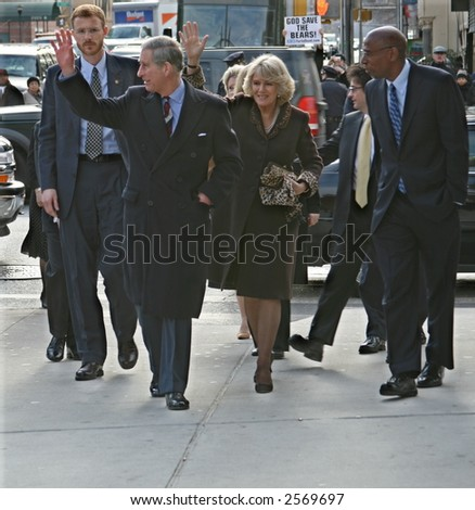 Prince Charles and Camilla Visit Harlem in New York City on January 28, 2007 - stock photo