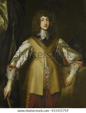 Prince Rupert, Count Palatine of Rhine, copy after Anthony van Dyck, 1630-99, Dutch painting, oil on canvas. He fought against Spain in the Netherlands during the Eighty Years' Wa (1568_1648), and ag - stock photo