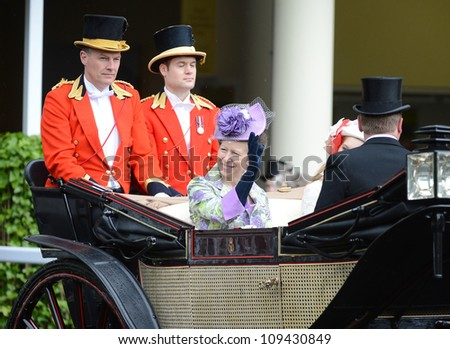 Princess Anne  attends Ladies Day at the annual Royal Ascot horse racing event. Ascot, UK. June 21, 2012, Ascot, UK Picture: Catchlight Media / Featureflash