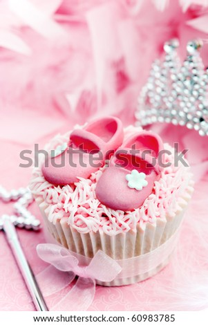 Princess cupcake - stock photo