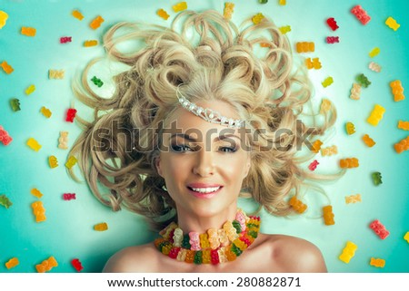 Princess of sweets - stock photo